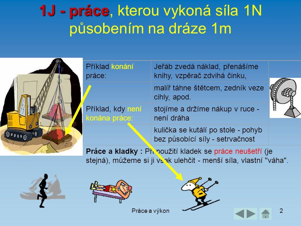 1J - práce, kterou vykoná síla 1N působením na dráze 1m