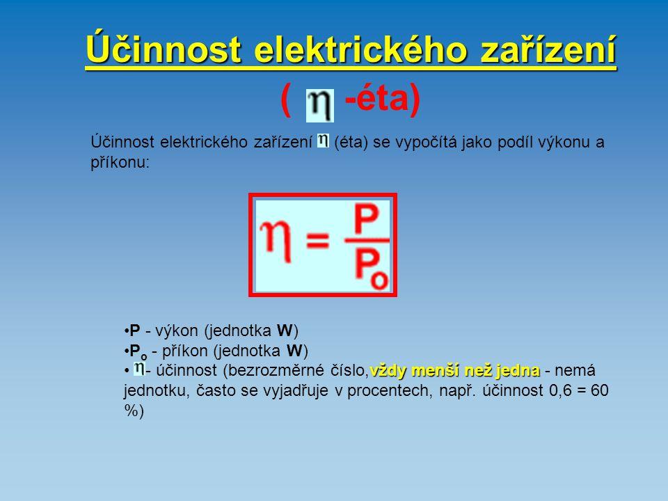 Účinnost elektrického zařízení ( -éta)