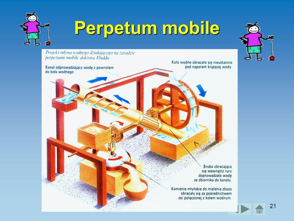Perpetum mobile Práce a výkon