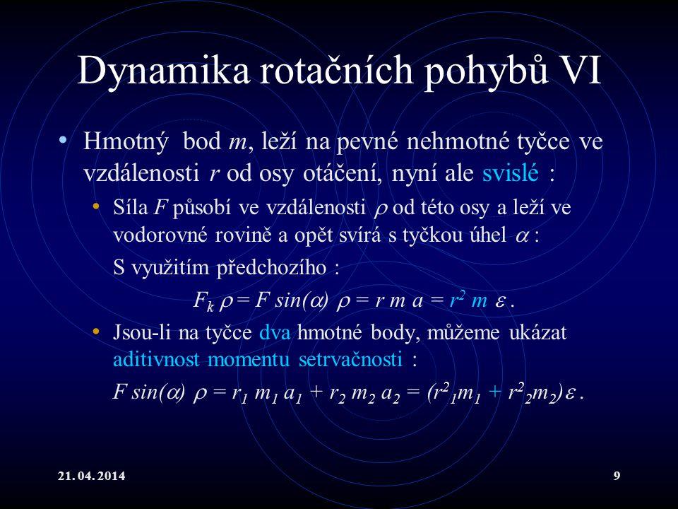 Dynamika rotačních pohybů VI