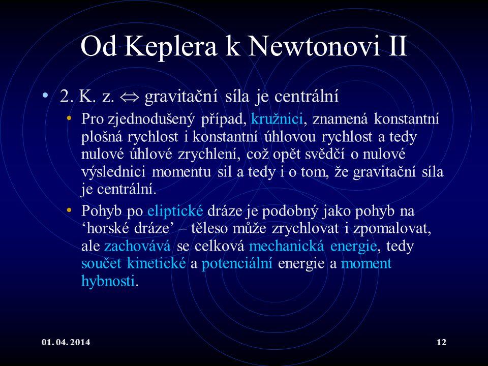 Od Keplera k Newtonovi II