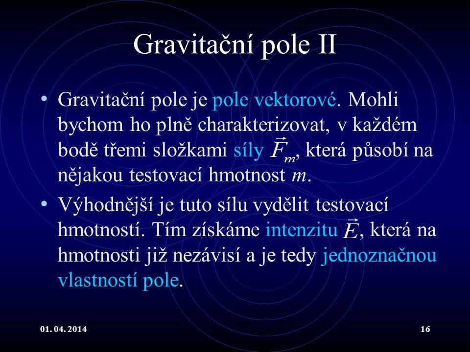 Gravitační pole II