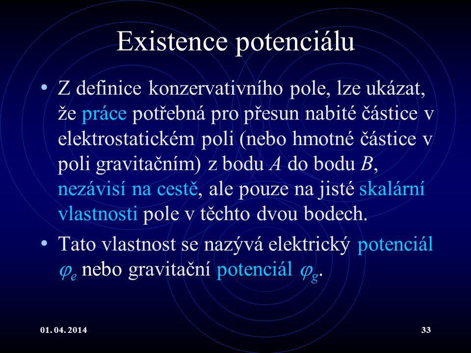 Existence potenciálu