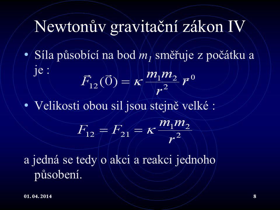 Newtonův gravitační zákon IV