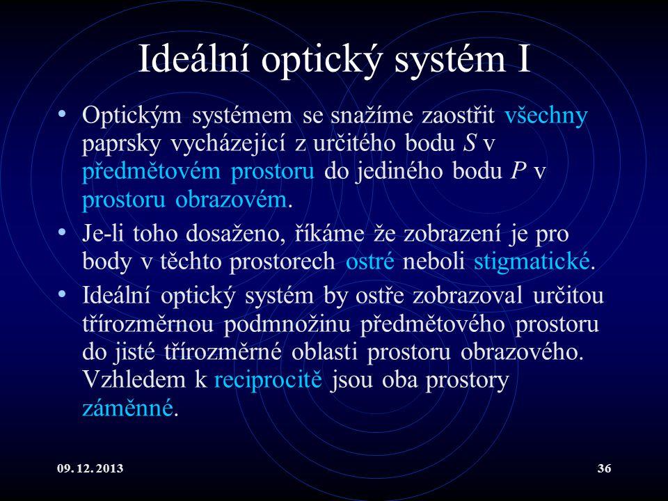 Ideální optický systém I