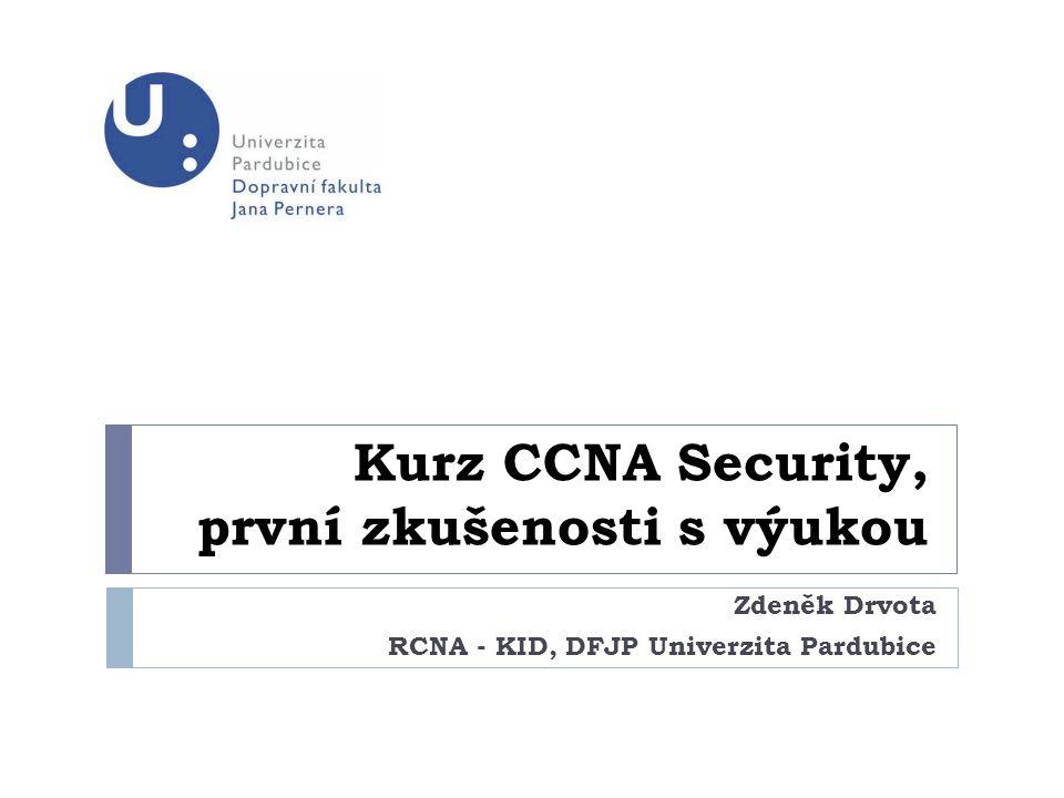 Kurz CCNA Security, první zkušenosti s výukou