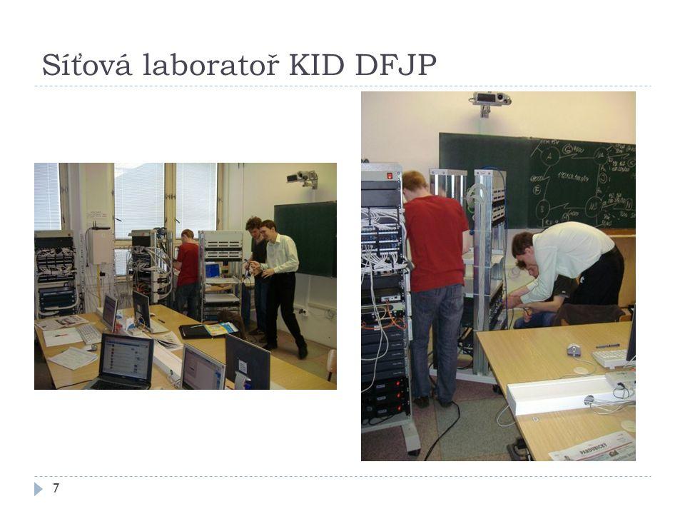 Síťová laboratoř KID DFJP