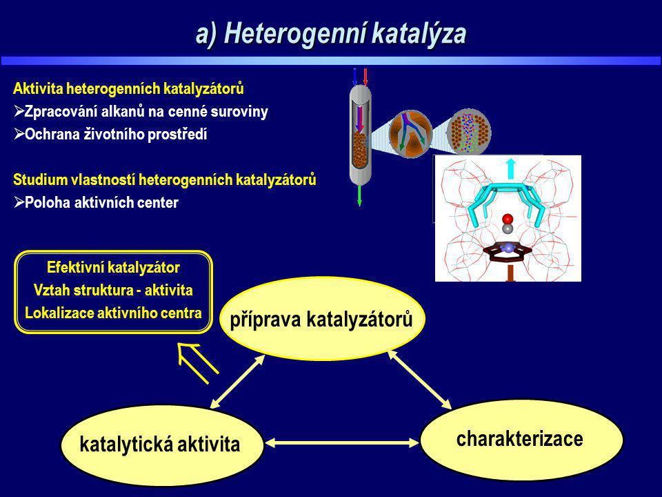 a) Heterogenní katalýza