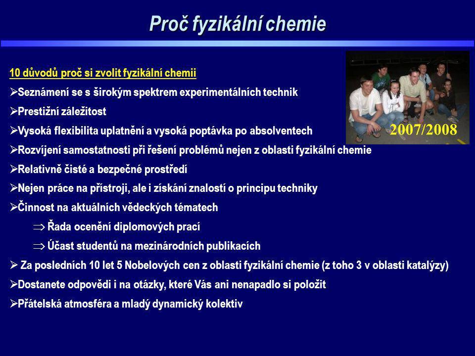 Proč fyzikální chemie 2007/2008