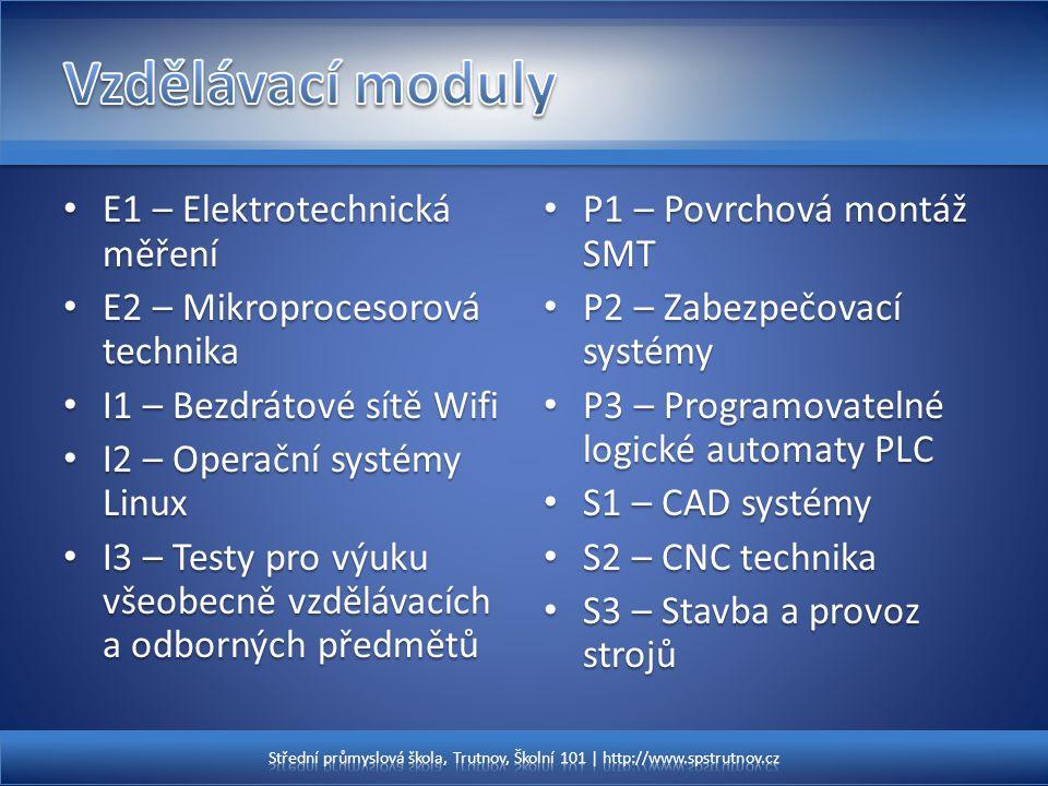 Vzdělávací moduly E1 – Elektrotechnická měření