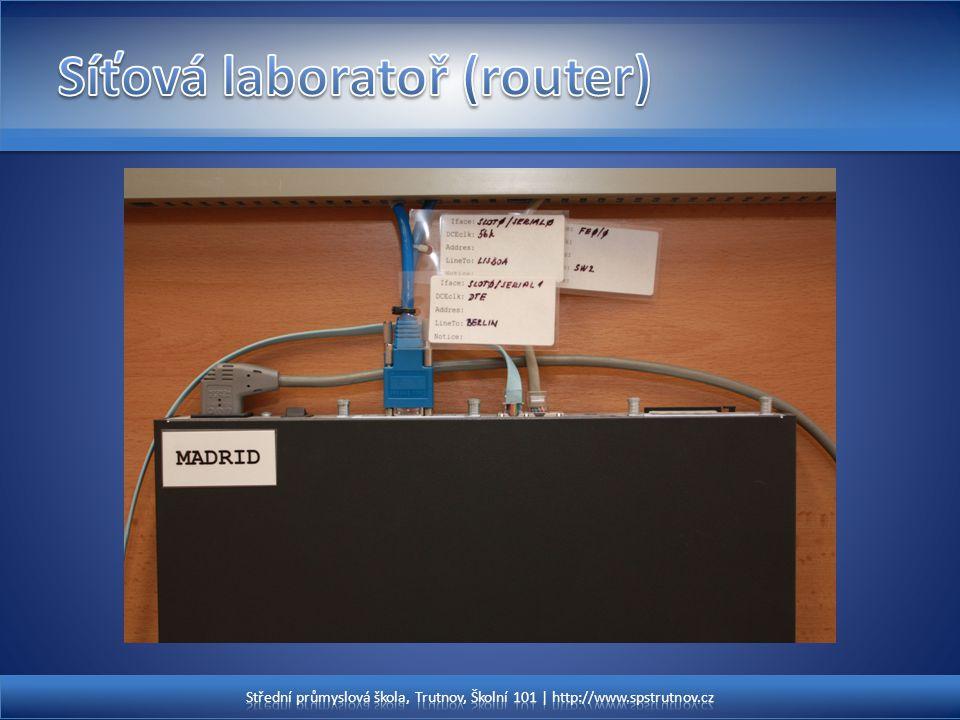 Síťová laboratoř (router)