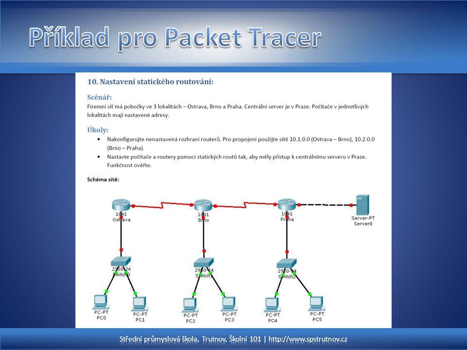 Příklad pro Packet Tracer