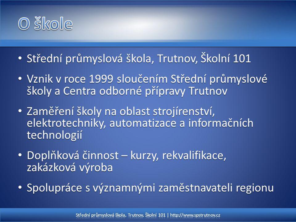 O škole Střední průmyslová škola, Trutnov, Školní 101
