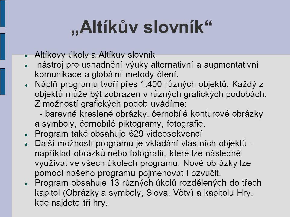 """""""Altíkův slovník Altíkovy úkoly a Altíkuv slovník"""