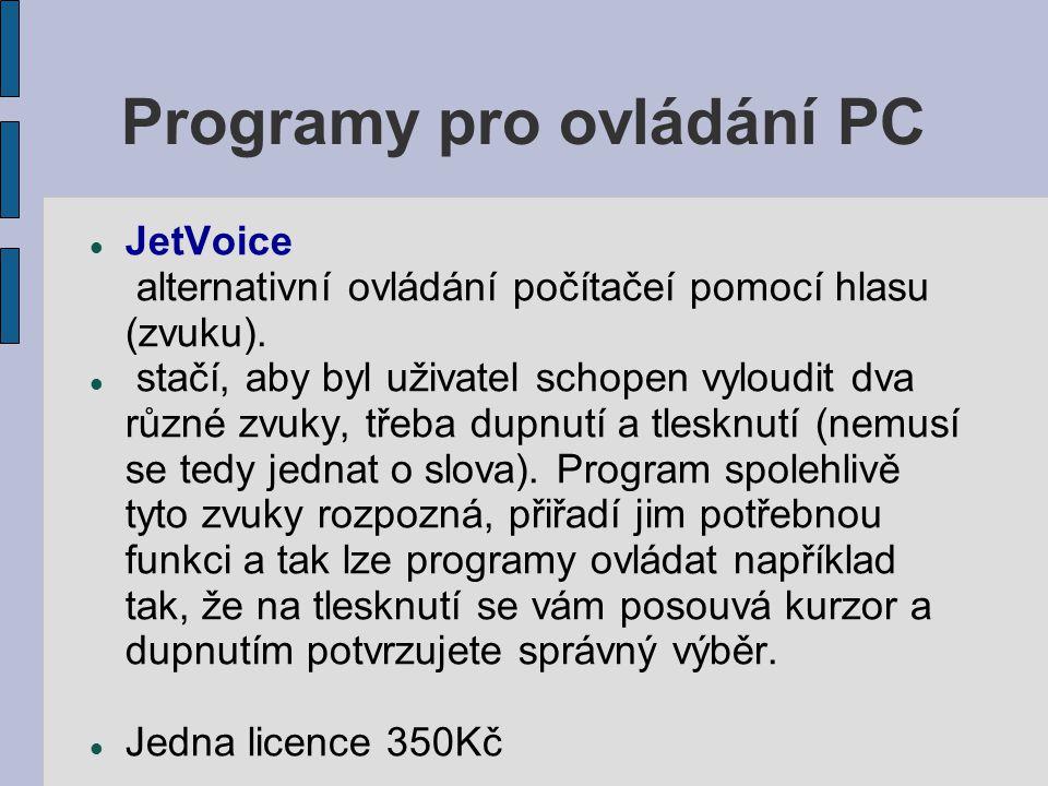 Programy pro ovládání PC