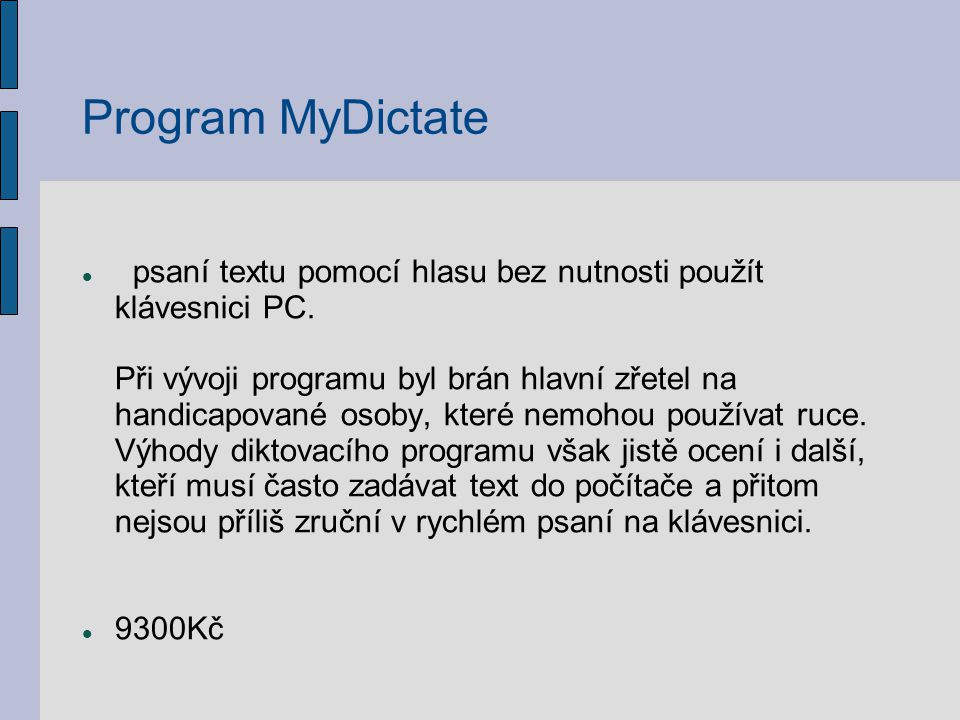 Program MyDictate