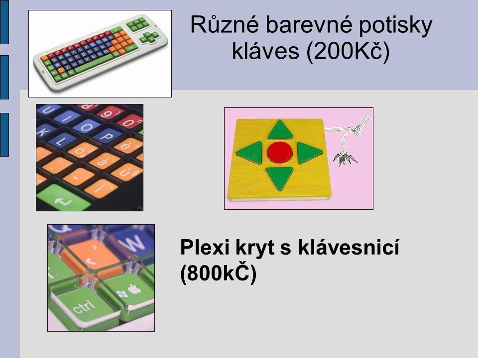 Různé barevné potisky kláves (200Kč)