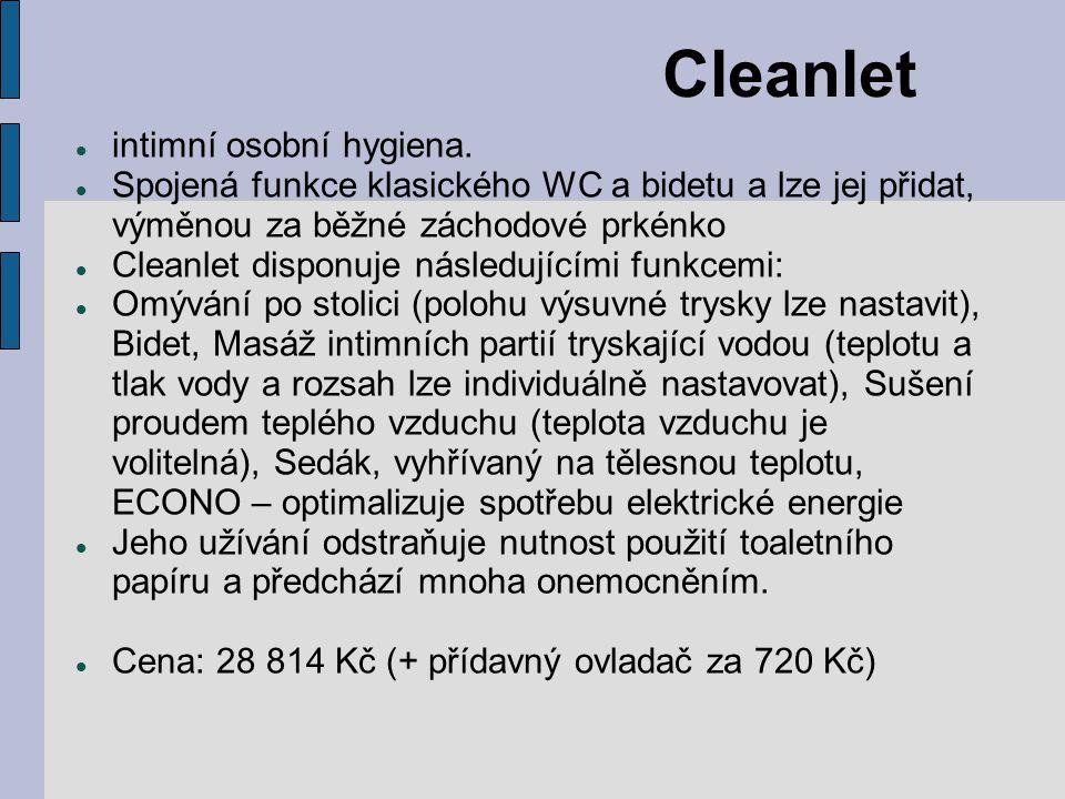 Cleanlet intimní osobní hygiena.