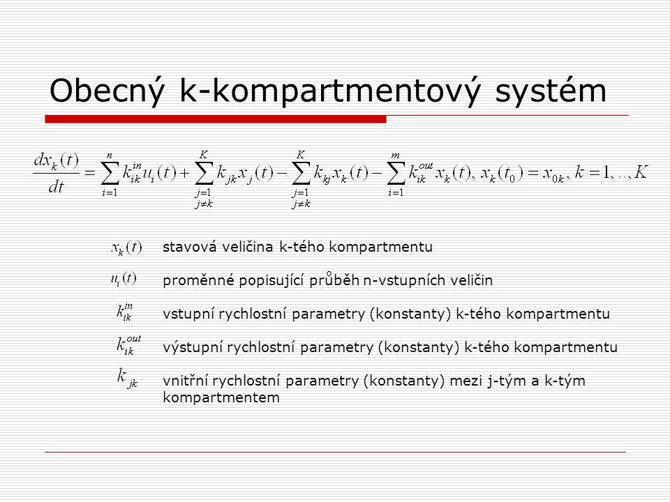 Obecný k-kompartmentový systém