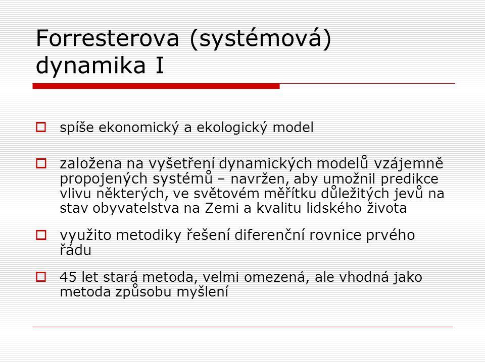 Forresterova (systémová) dynamika I