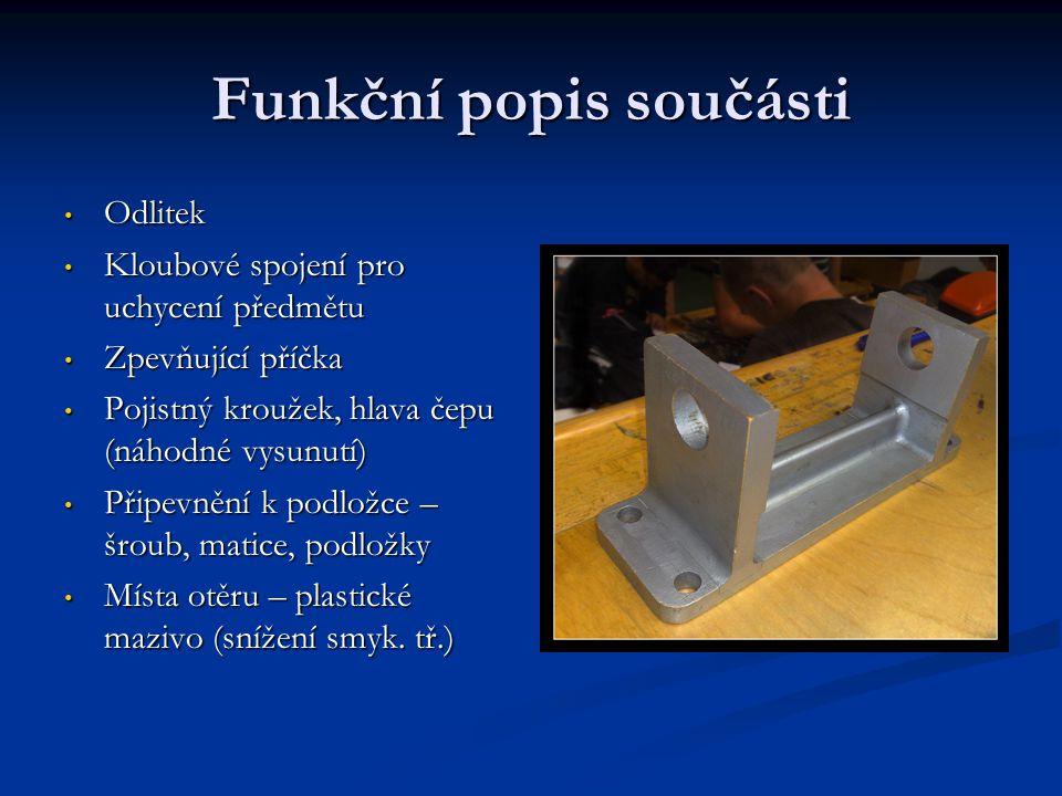 Funkční popis součásti