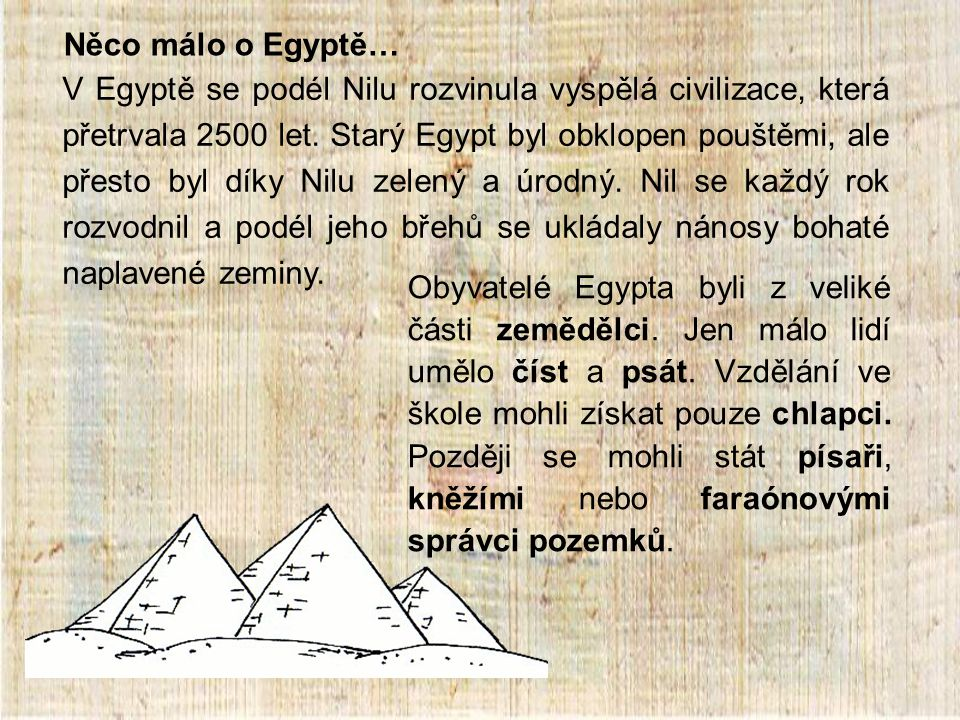Něco málo o Egyptě…