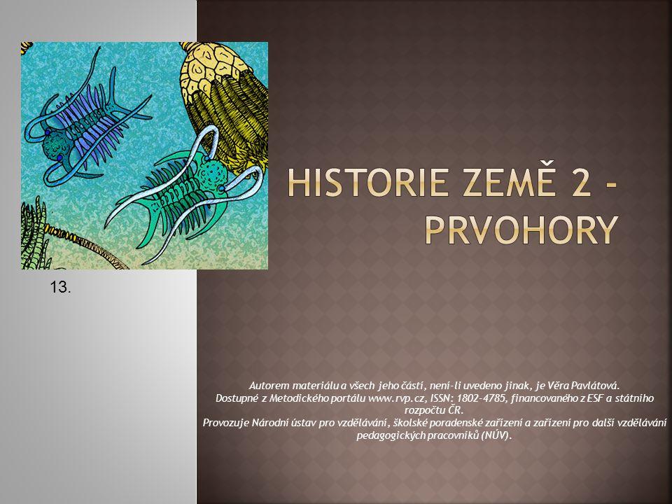 HISTORIE ZEMĚ 2 - PRVOHORY