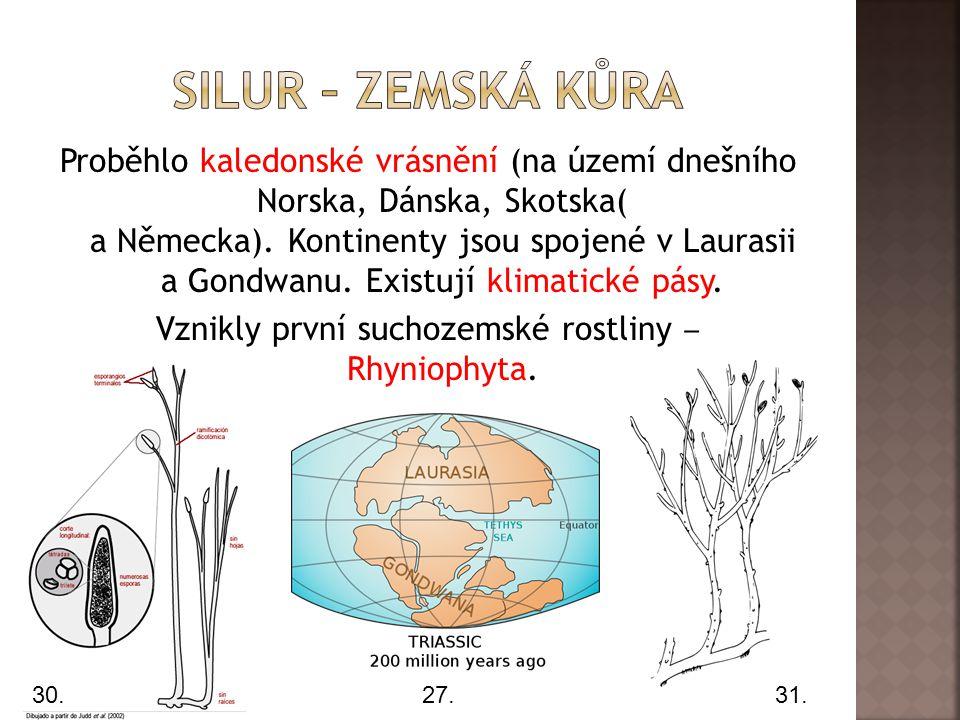 Silur – zemská kůra