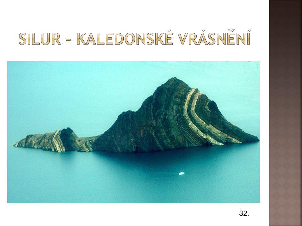 Silur – Kaledonské vrásnění