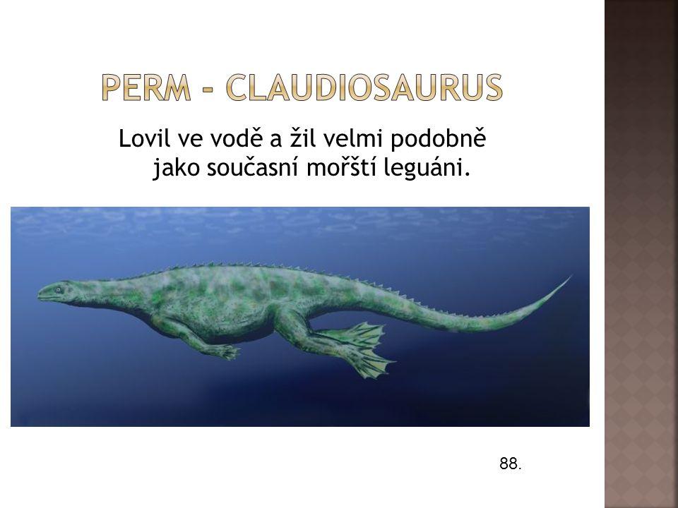 Lovil ve vodě a žil velmi podobně jako současní mořští leguáni.