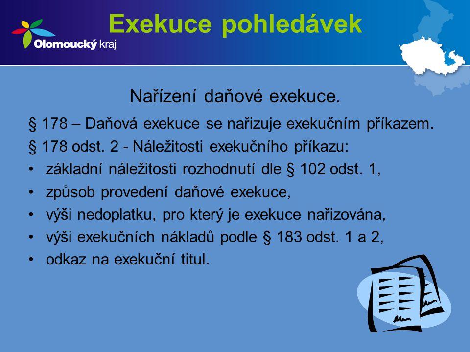 Nařízení daňové exekuce.