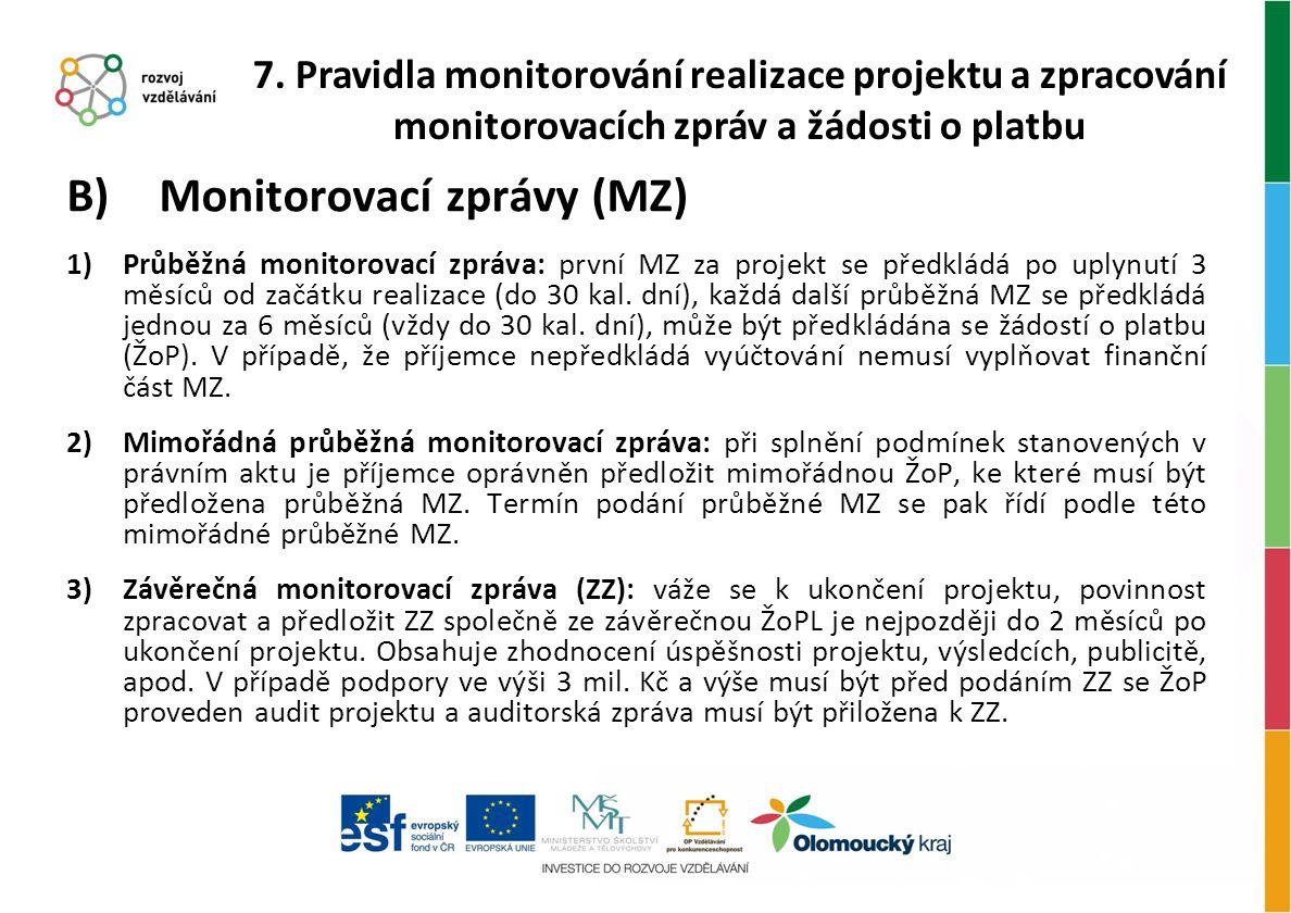 Monitorovací zprávy (MZ)