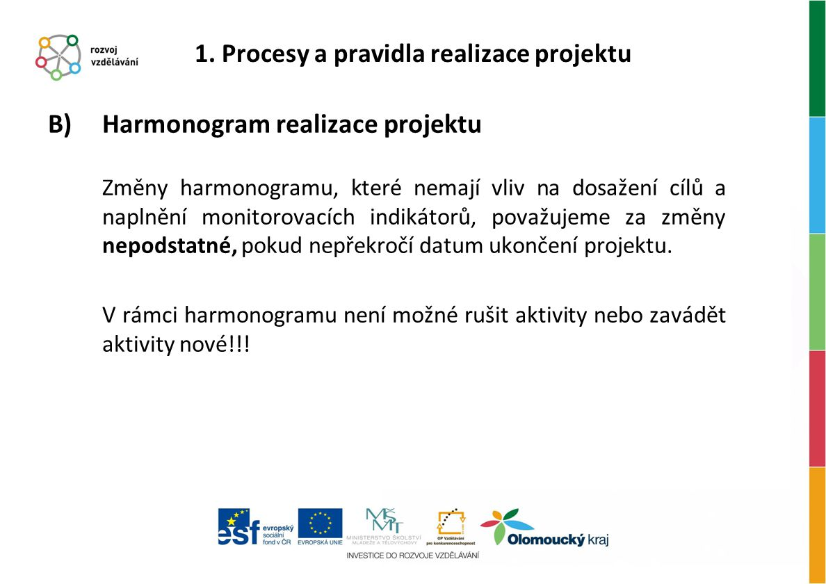 1. Procesy a pravidla realizace projektu