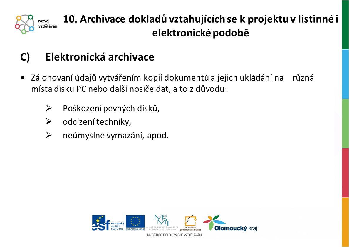 C) Elektronická archivace