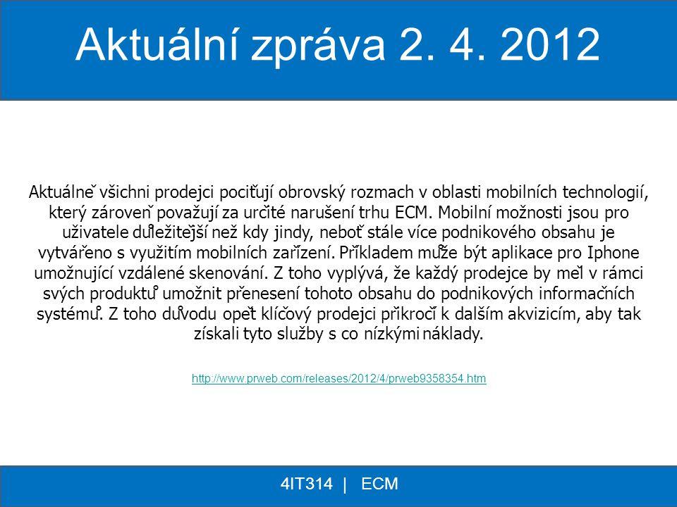 Aktuální zpráva 2. 4. 2012