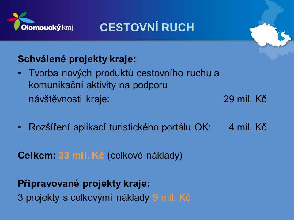 CESTOVNÍ RUCH Schválené projekty kraje: