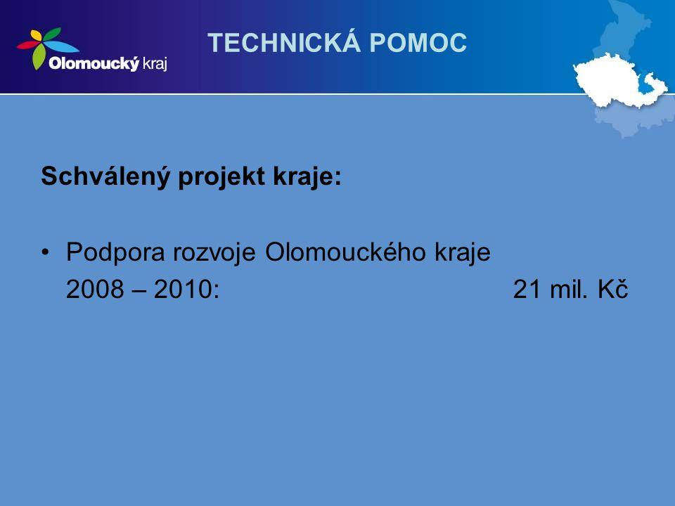 TECHNICKÁ POMOC Schválený projekt kraje: Podpora rozvoje Olomouckého kraje.