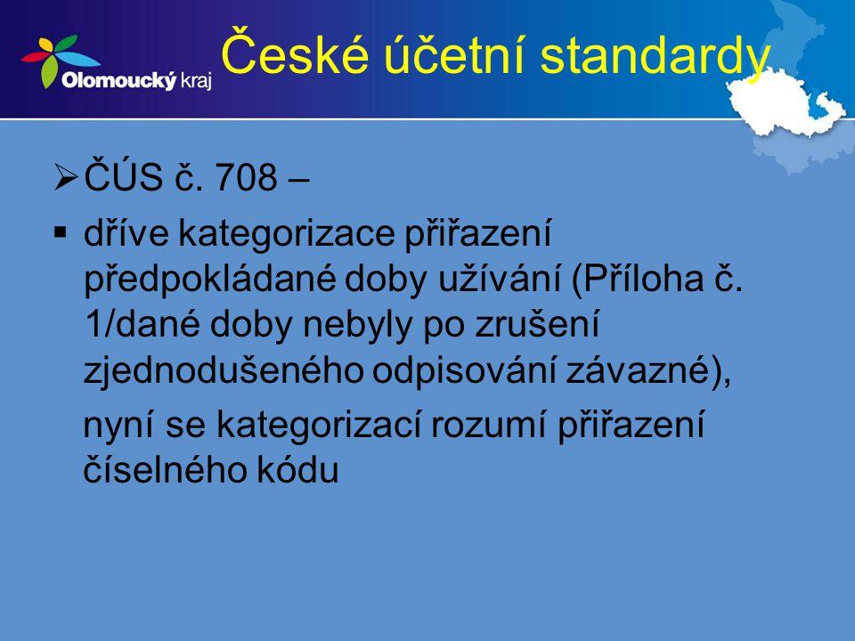 České účetní standardy