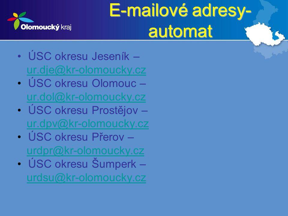 E-mailové adresy- automat