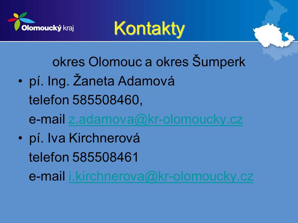 okres Olomouc a okres Šumperk