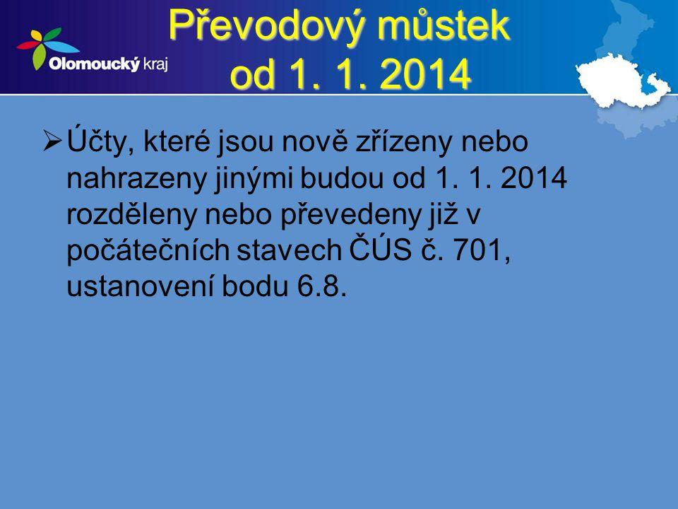 Převodový můstek od 1. 1. 2014