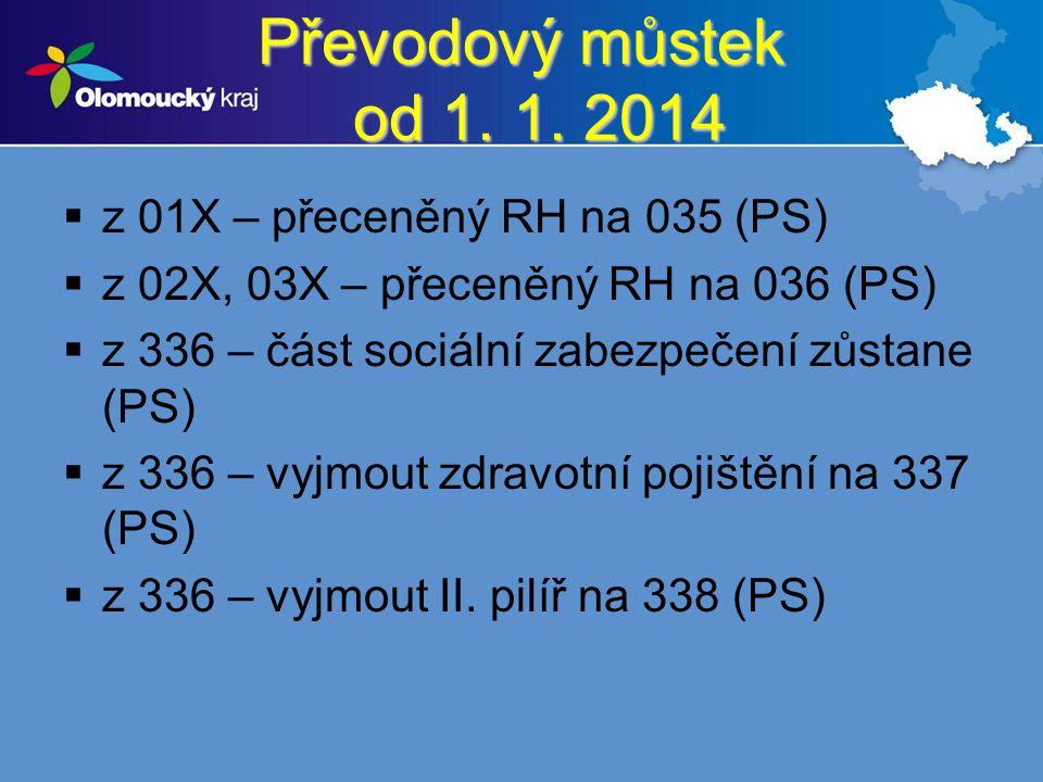 Převodový můstek od 1. 1. 2014 z 01X – přeceněný RH na 035 (PS)