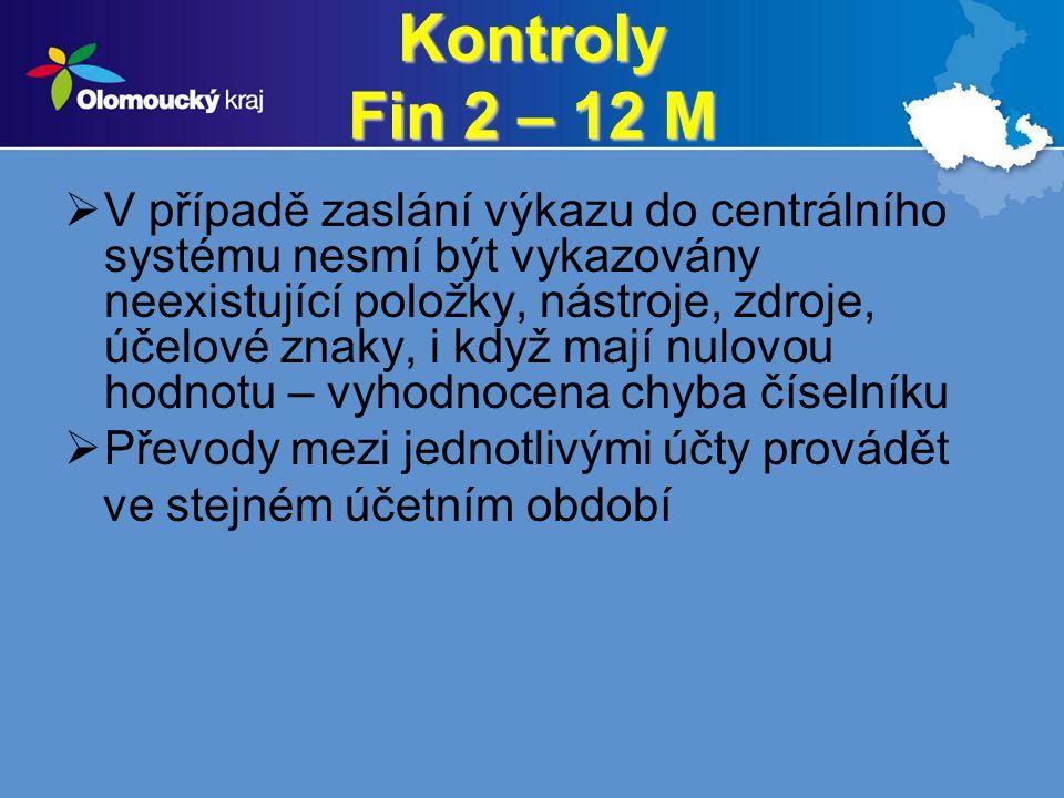 Kontroly Fin 2 – 12 M