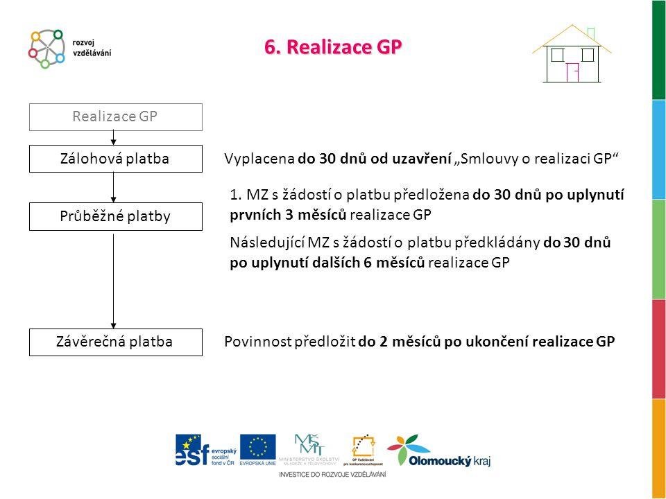 6. Realizace GP Realizace GP Zálohová platba