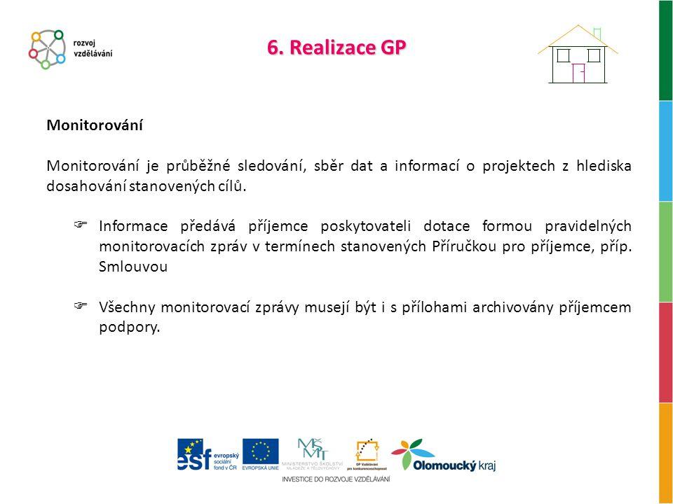 6. Realizace GP Monitorování