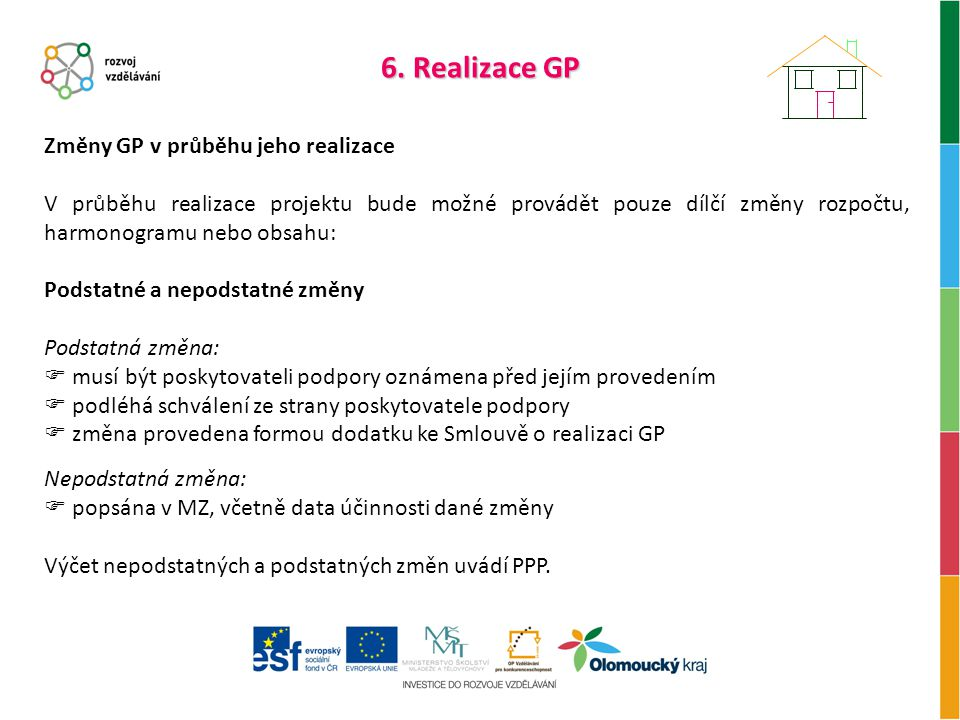 6. Realizace GP Změny GP v průběhu jeho realizace
