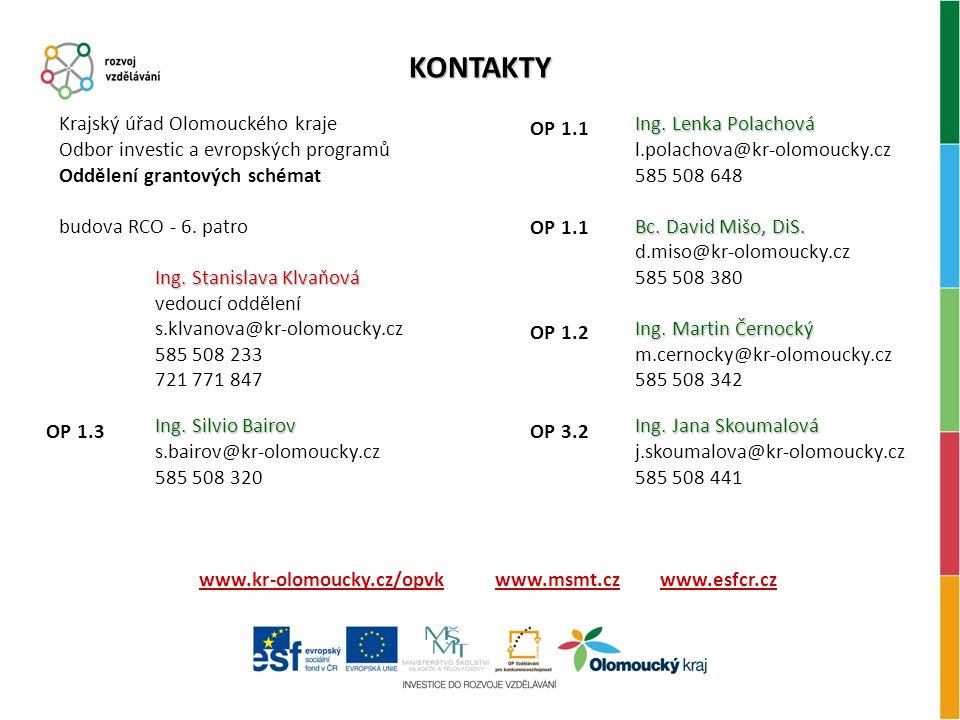 www.kr-olomoucky.cz/opvk www.msmt.cz www.esfcr.cz