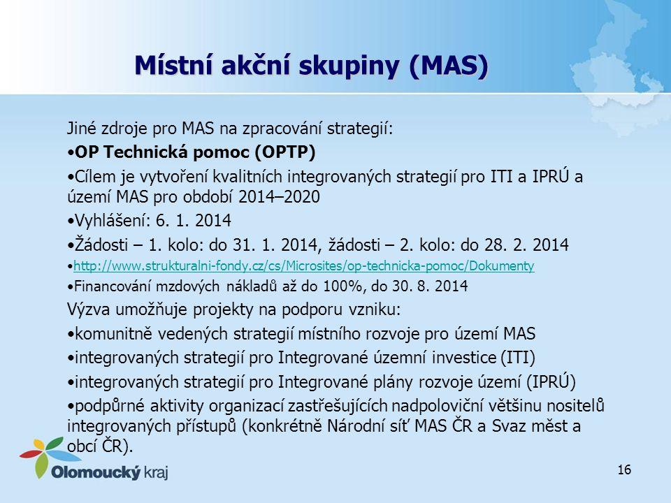 Místní akční skupiny (MAS)