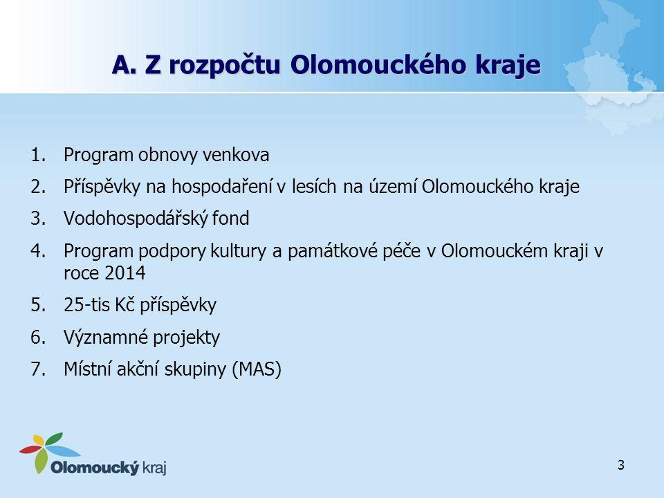 A. Z rozpočtu Olomouckého kraje