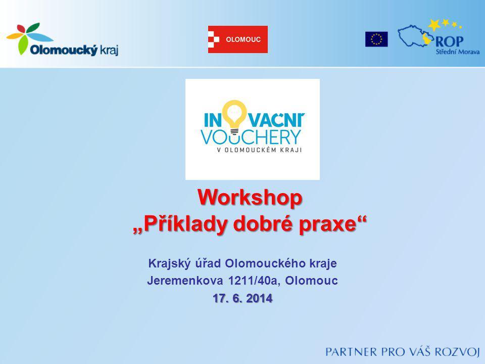 """Workshop """"Příklady dobré praxe"""